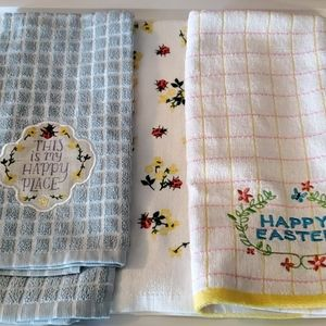 New 3 cotton kitchen towels